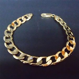 Other - 24k  Gold Filled Classic Chain Link Bracelet